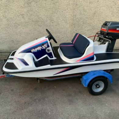 Rare Hydraski Catamaran Speed Boat Power Boat Jet Ski Seadoo